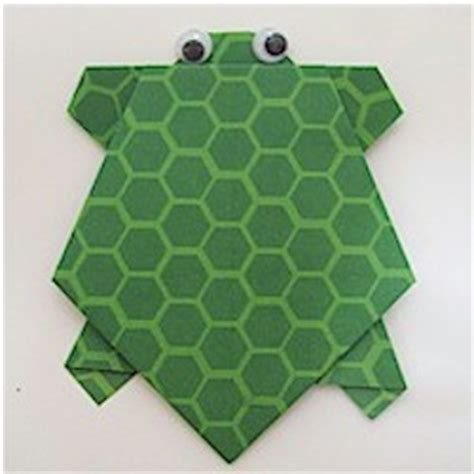 Easy Turtle Origami - origami turtle family crafts