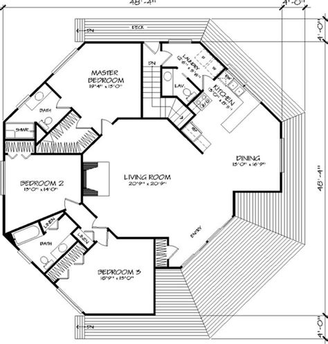 Floor Plan First Story Dream Home Pinterest House Small Octagon House Plans
