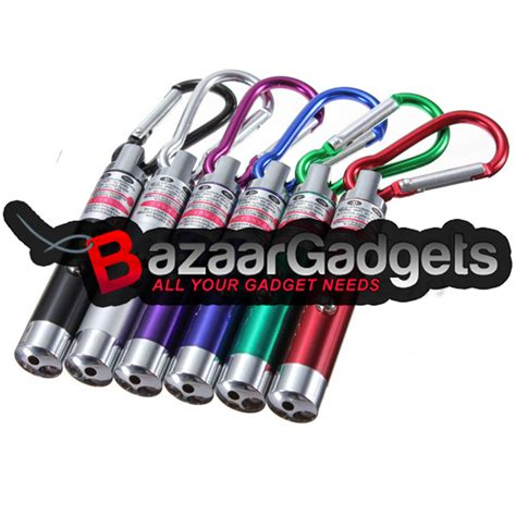 Gantungan Kunci Uv Led Laser Keychain Pointer Money Detector Mini Led buy 4 in 1 uv light white led laser pointer keychain 3xlr44 bazaargadgets
