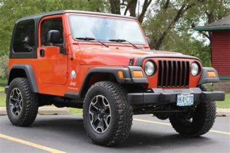 jeep wrangler orange lifted purchase used 2005 jeep wrangler 4 0l automatic orange