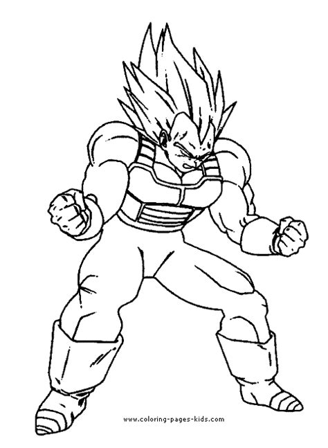 coloring pages of dragon ball z characters dragon ball z color page coloring pages for kids