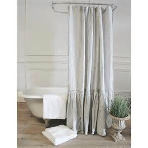 Retro Bathroom Vanity Vintage Ruffle Shower Curtain A Cottage In The City