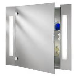 mirror bathroom cabinet searchlight 6560 illuminated bathroom cabinet mirror