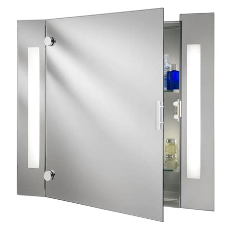 mirror cabinet bathroom searchlight 6560 illuminated bathroom cabinet mirror
