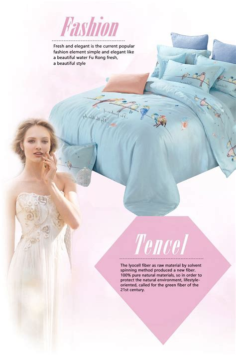 Bedcover Tencel 240x260 navydaly fashion design 2 bedding king size tencel bed sheet with quilt cover ebay