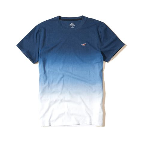 hollister tshirt limited lyst hollister must ombre crew t shirt in blue for