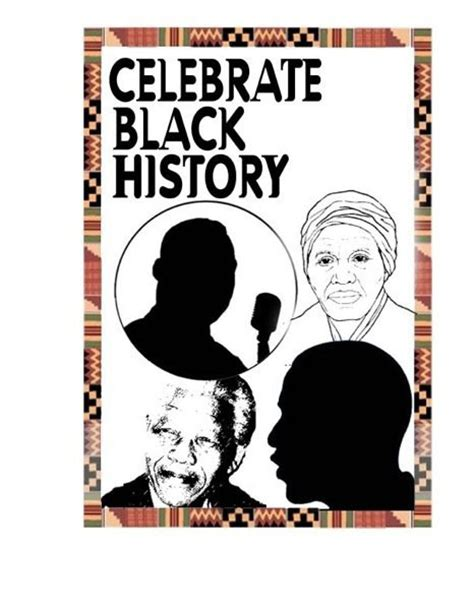 printable black history poster celebrate black history clipart