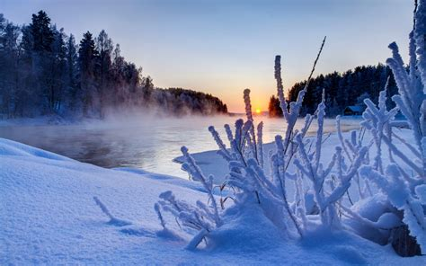 beautiful winter beautiful winter sunset scenery wallpaper