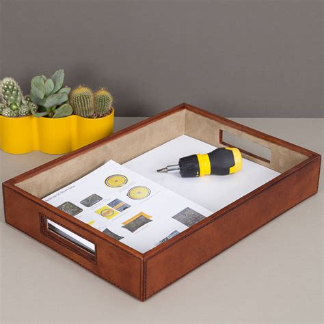 leather desk tray leather desk tray by notonthehighstreet