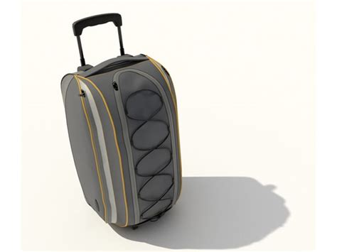 trolley travel bag 3d model 3dsmax files free