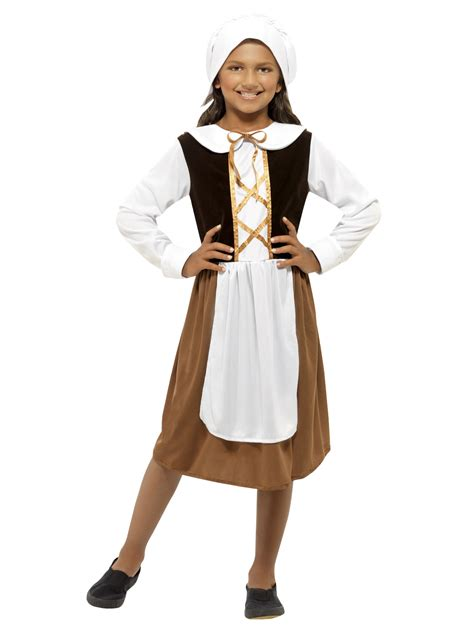 book themed clothing uk girls tudor maid servant outfit poor child kids fancy