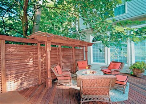 Deck Screen Wall - design ideas for outdoor privacy walls screen and
