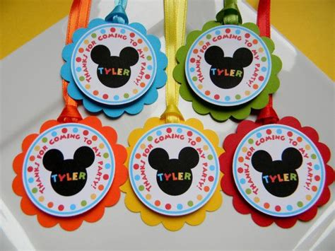 Mickey Mouse Clubhouse Birthday Giveaways - 12 mickey mouse clubhouse birthday party favor thank you tags