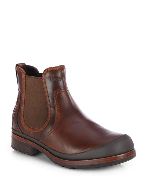 ugg matteson leather boot in brown for chestnut lyst