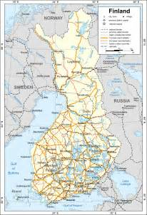 large map of finland with cities finland large map with