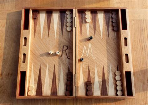 Backgammon Handmade - handmade oak backgammon board inlaid with walnut and ash
