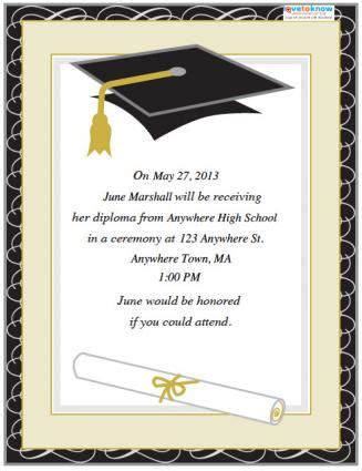 Free Template For Graduation Invitation free graduation invitation templates http webdesign14