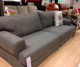 ikea hov 197 s hovas sofa slipcover cover hjulsbro gray grey