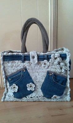 Crocheted Tote From Global by Crochet Bag Pattern Crochet And Up Cycled Bag