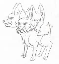 Cute Cerberus Coloring Pages Sketch Page sketch template