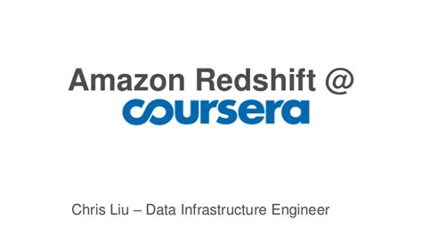 amazon redshift getting started with amazon redshift