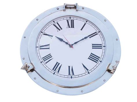chrome theme clock buy chrome decorative ship porthole clock 17 inch nautical