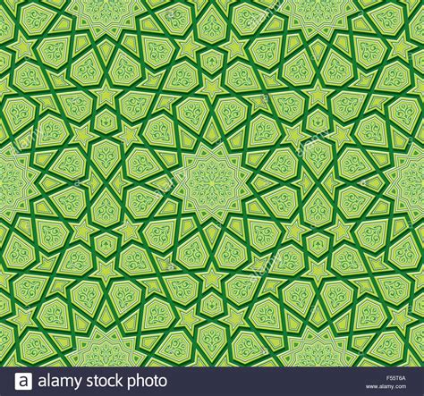 islamic pattern cdr islamic star ornament green background vector