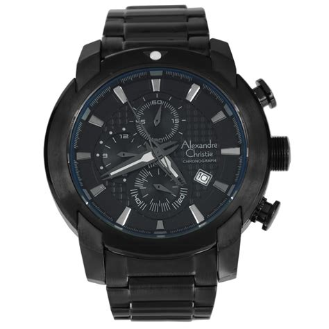 Alexandre Christie Sport Silver Stainless Steel alexandre christie mens chronograph 6264 mcbipba