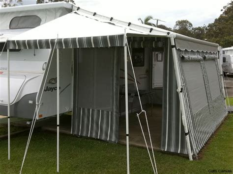 Caravan And Awning by Caravan Annexes 171 Coffs Canvas
