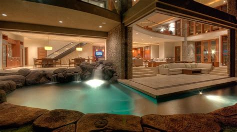 house with pool inside luxury homes with indoor pools pool design ideas