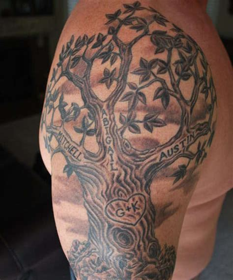 tree sleeve tattoo designs 23 family tree tattoos creativefan
