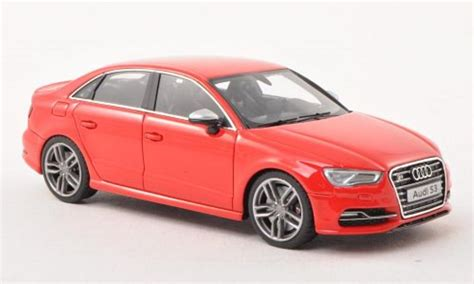 Audi S3 Modell by Audi S3 Limousine Red 2013 Minichs Diecast Model Car 1