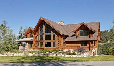 colorado log cabin homes rustic log cabins in winter log rustic log retreat blends modern accents and spectacular views