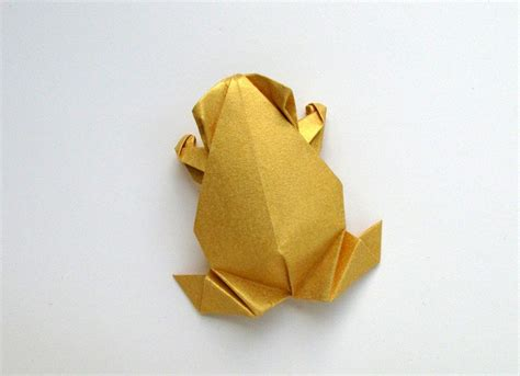 Pre Made Origami - pre columbian style origami frog