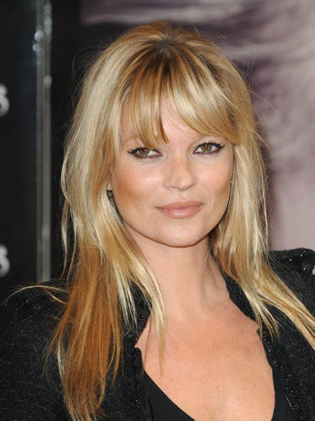 Kate Moss Gets A Fringe Will You Be Next Tips On Choosing The Style Fringe by Kate Moss With Fringe Hair Fringe Benefits