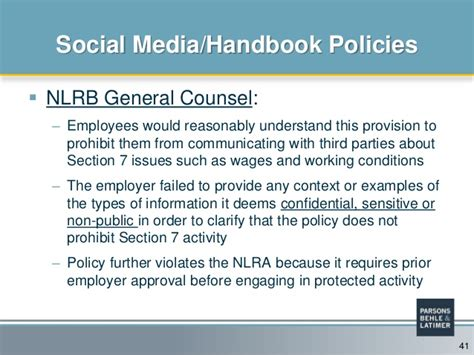 nlra section 7 social media do your company s policies need a social media overhaul