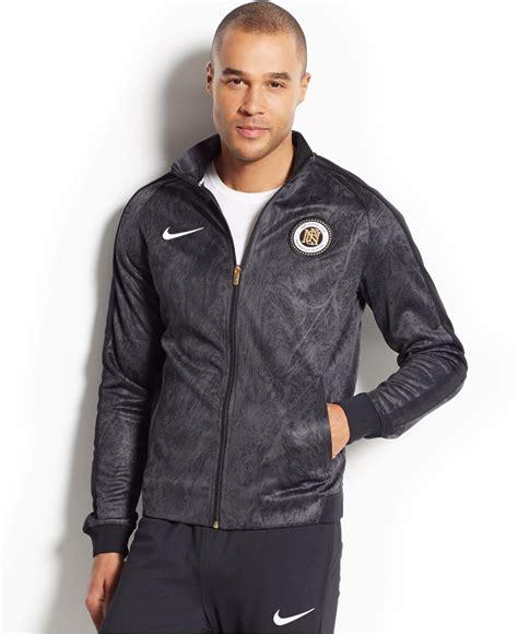 Jaket Trend Line Nike lyst nike fc n98 printed zip track jacket in black
