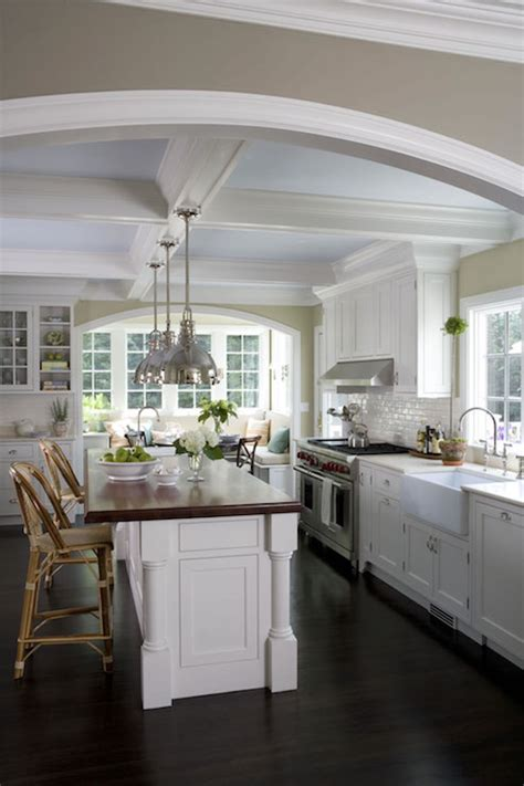 painted coffer ceiling cottage kitchen smith river
