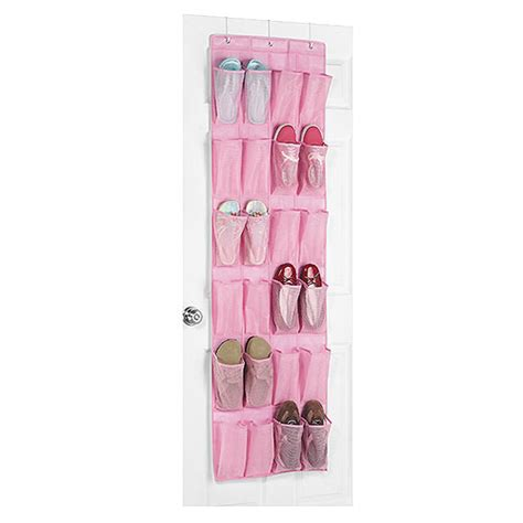 over the door shoe organizer whitmor 24 pocket over the door shoe organizer pink