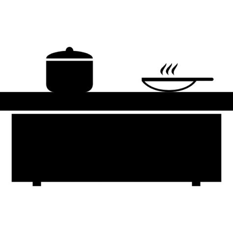 kitchen icon kitchen table with cooking pots icons free download