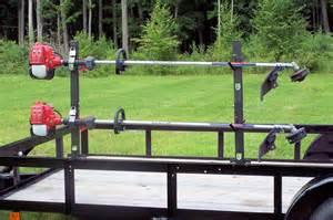 trimmer lockable landcape trailer rack 2 place pack em racks