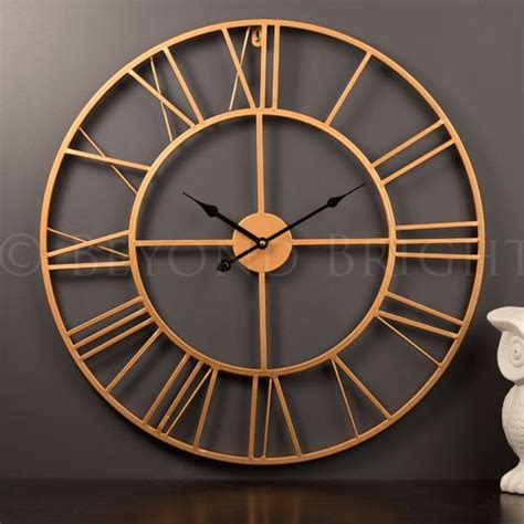 Diy Gaint Wall Clock 30 60cm Diameter Elet00662 Jam Dinding 60cm copper wall clock reloj pared wall clocks copper and clock
