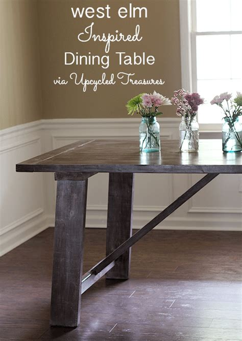 west elm dining room table inspiring furniture redos and tutorials the golden sycamore