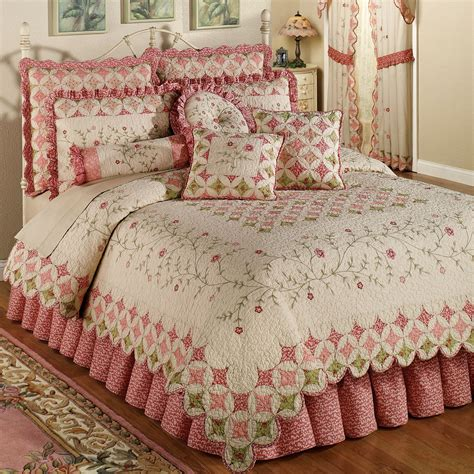 Quilt On Bed by Coras Cathedral Garden Cotton Quilt Set Bedding