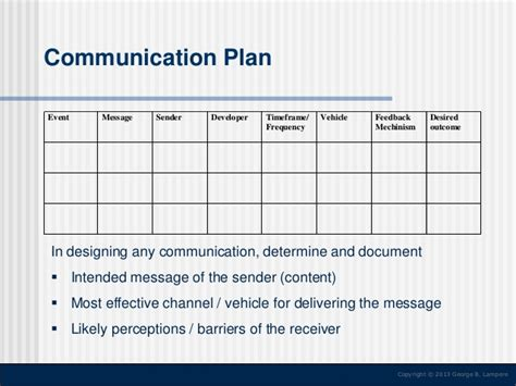 Change Communication Strategy Event Communications Plan Template