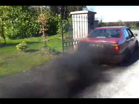 volkswagen diesel smoke vw jetta mk2 1 6gtd engine smoke mp4 youtube