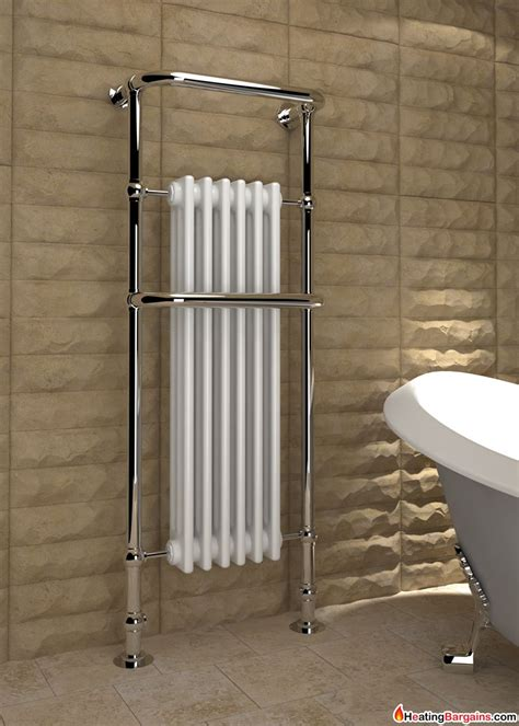 traditional bathroom radiator kudox victoria tall traditional heated towel rail 576mm x