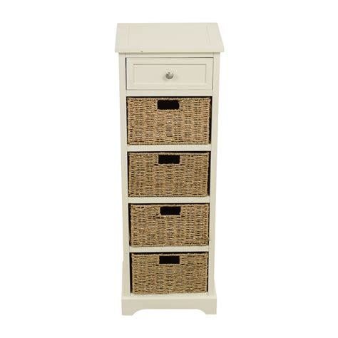 tall white storage 28 off tall white storage unit with drawer and wicker