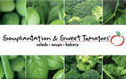 Sweet Tomato Gift Card - sweet tomatoes souplantation gift card discount 10 00 off