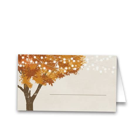 table seating cards rustic fall leaves wedding table guest seating cards